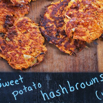 Baked Sweet Potato Hash-browns