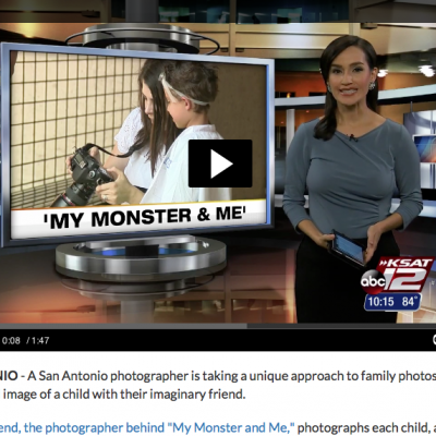 My Monster & Me Photo Series on KSAT News